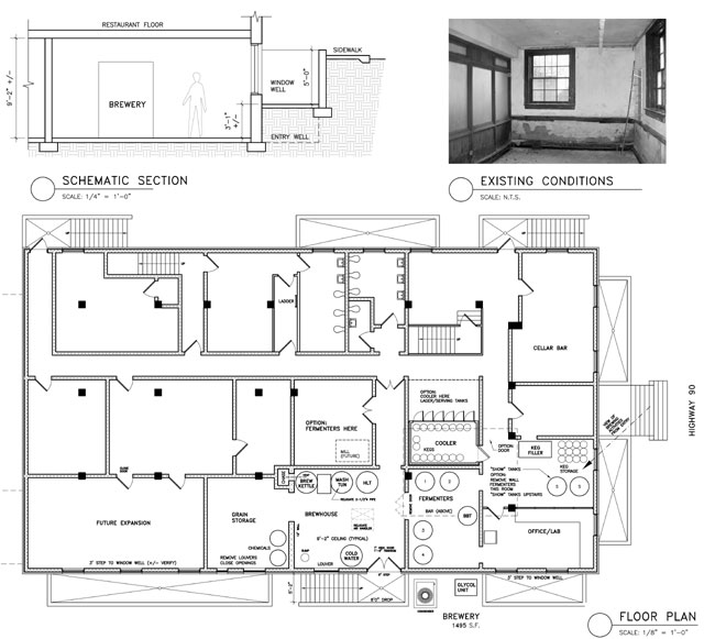 Photo microbrewery floor plan images photo nano brewery for Brewery floor plan